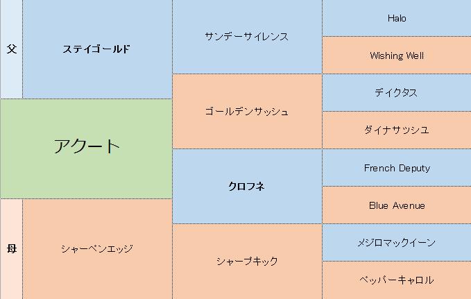 アクートの三代血統表