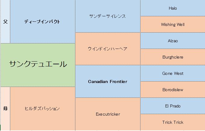 サンクテュエールの三代血統表