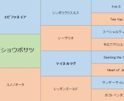 メイショウボサツの三代血統表