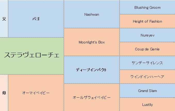 ステラヴェローチェの三代血統表
