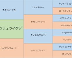 ショウリュウイクゾの三代血統表