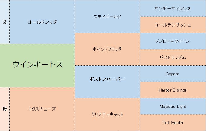 ウインキートスの三代血統表