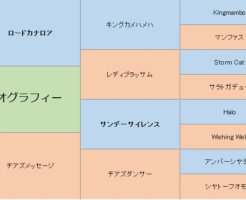 ビオグラフィーの三代血統表