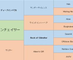 ダノンチェイサーの三代血統表