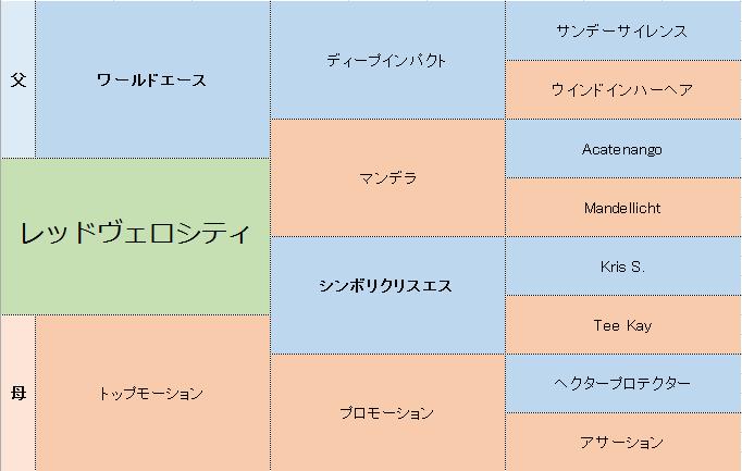 レッドヴェロシティの三代血統表
